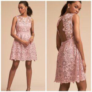 BHLDN rosaline lace mini dress
